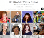 Meet me at the Bayfield Writers Festival in Bayfield, Ontario June 22-23